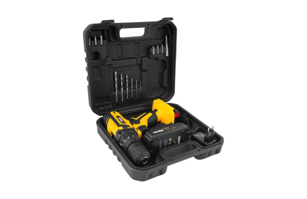 Furadeira Parafusadeira com Impacto 3/8 12V Bivolt 1 Bateria PFV012I - VONDER