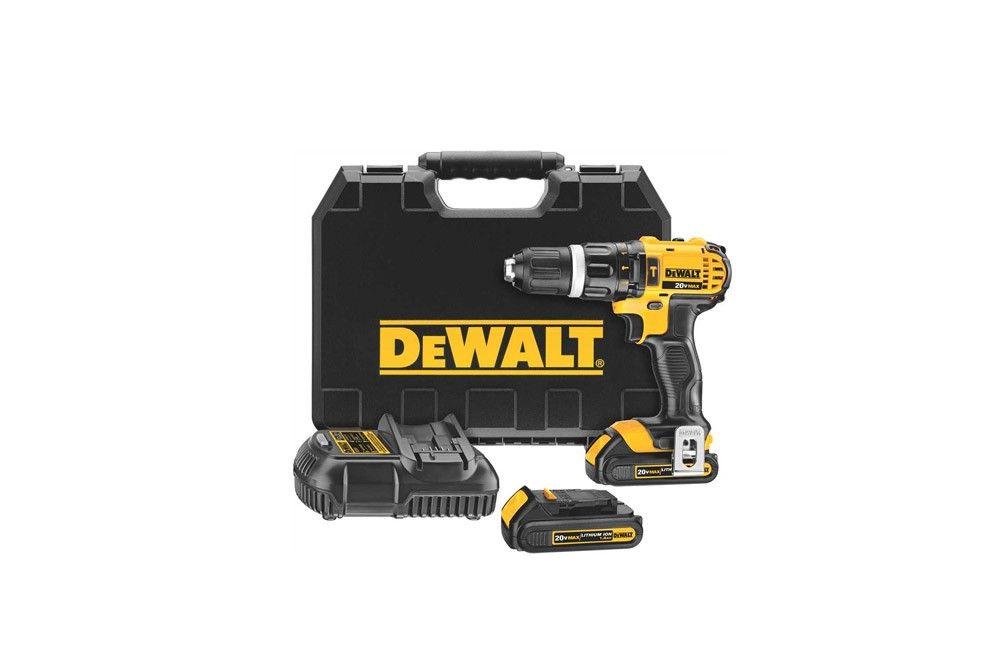 """Furadeira / Parafusadeira de Impacto de 1/2"""" à Bateria de 20V 110V DCD785 - Dewalt"""