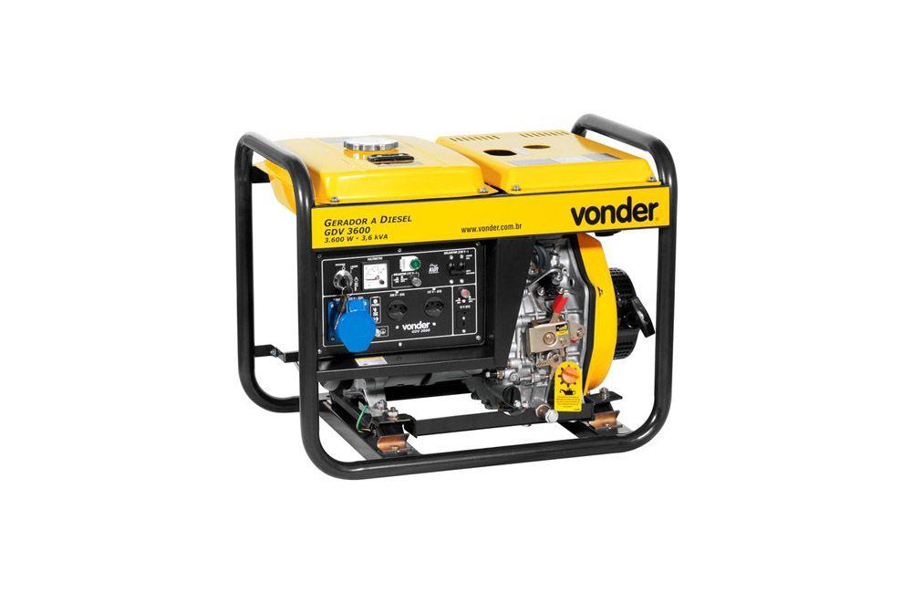 Gerador à Diesel 3,3 KVA Partida Manual GDV-3600 sem Bateria