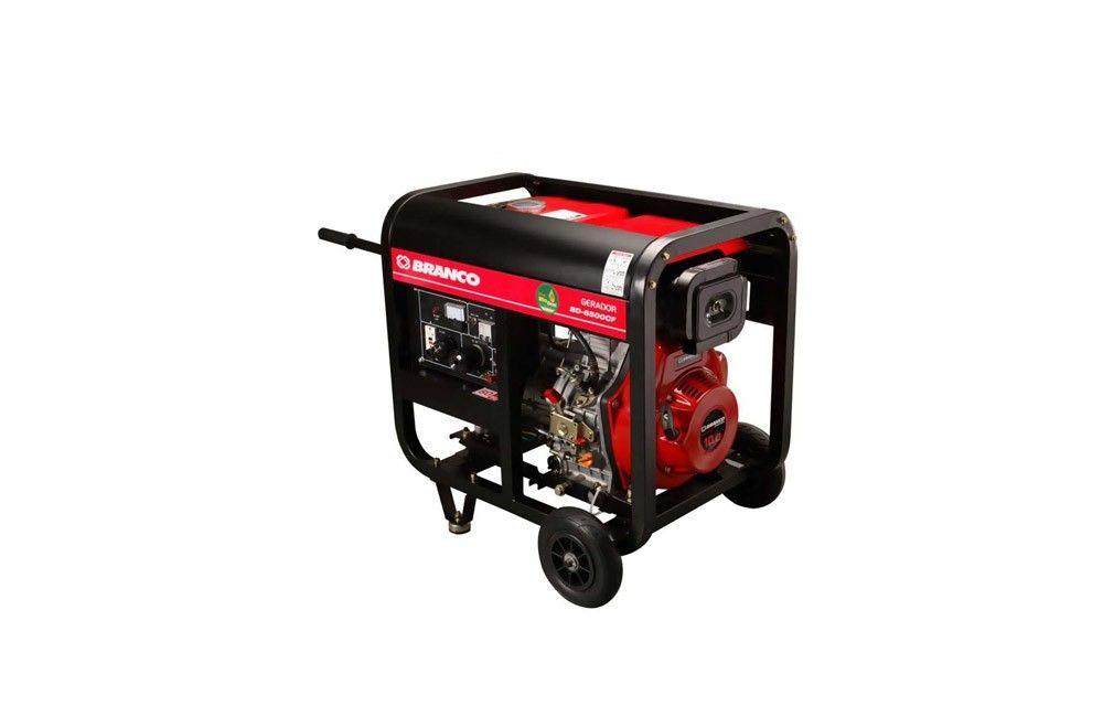 Gerador à Diesel de 5,5 KVA Bivolt Partida Elétrica BD-6500E - Branco
