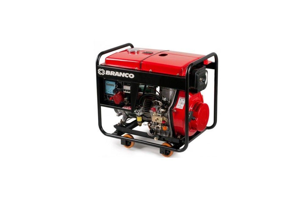 Gerador à Diesel de 8 KVA 220V Trifásico Partida Elétrica BD-8000E3 - Branco