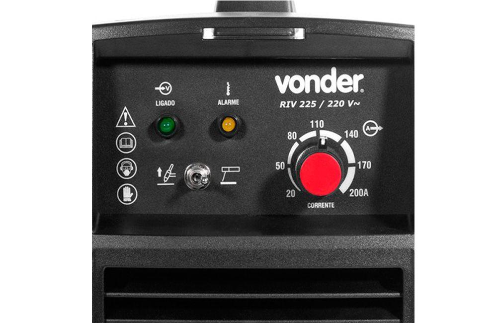 Inversora/Retificadora de Solda Tig/Eletrodo 200A 220V RIV 225 - VONDER