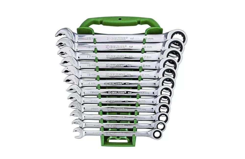 Jogo chave combinada com catraca speedy 8-19mm com 12 peças 85597BJ - Belzer
