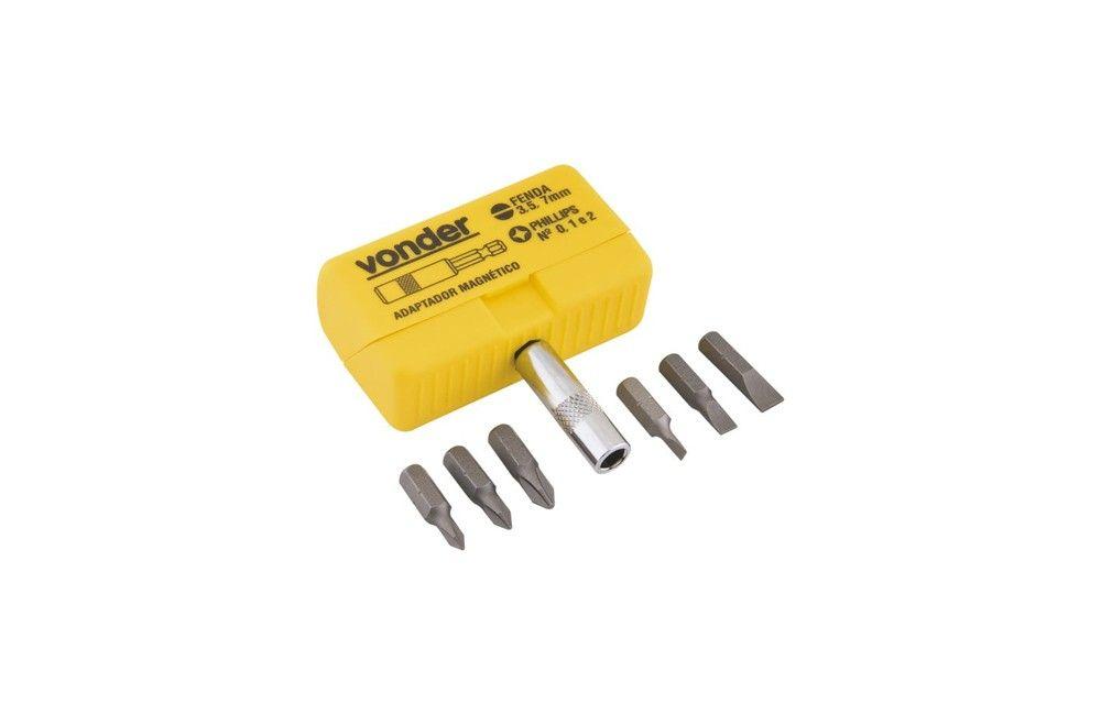 Jogo de Bits 1/4 com 7 Peças TD-801AS - Vonder
