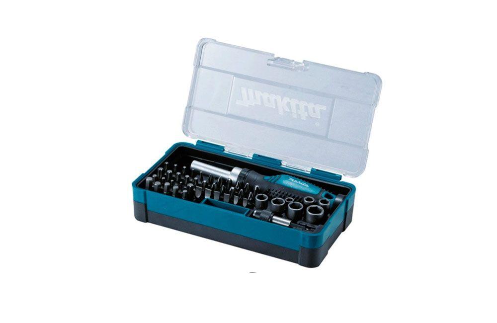 Jogo de Bits e Soquetes Manual com 47 peças Makita B-36170