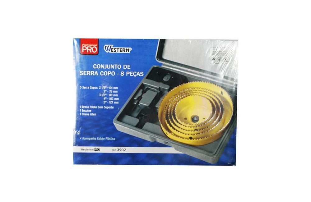 Jogo de Serra Copo 64-127MM 8 peças 3902 - Western