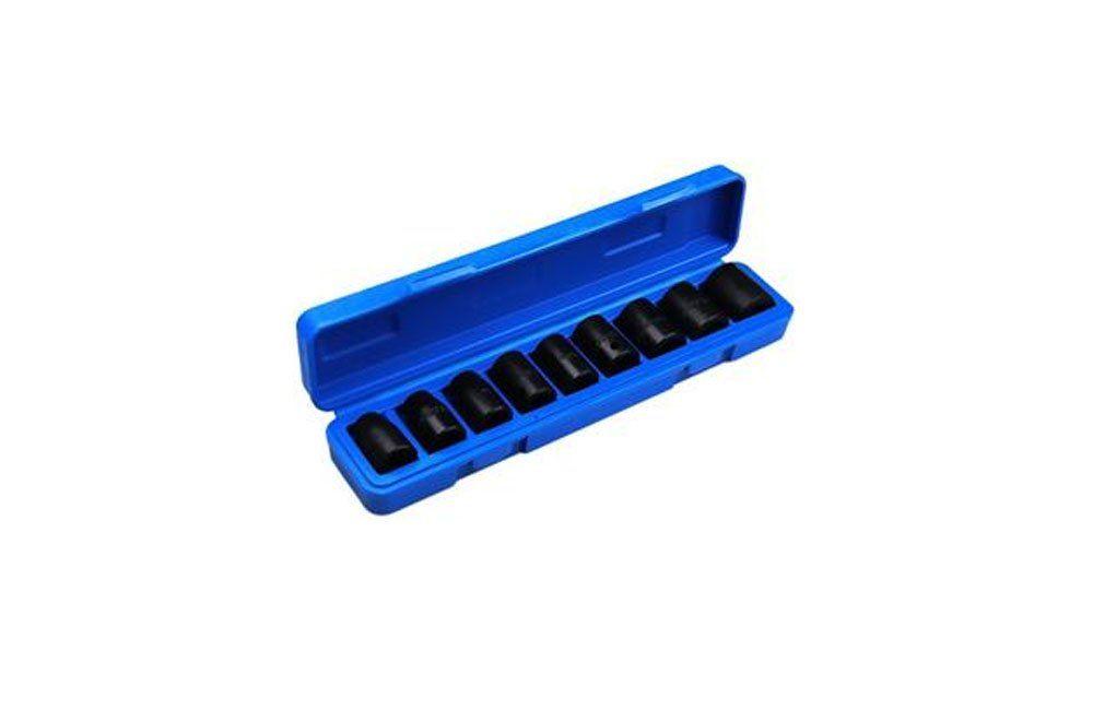 """Jogo de Soquetes de Impacto de 10 a 22mm com encaixe de 1/2"""" com 9 peças 6159 - Waft"""