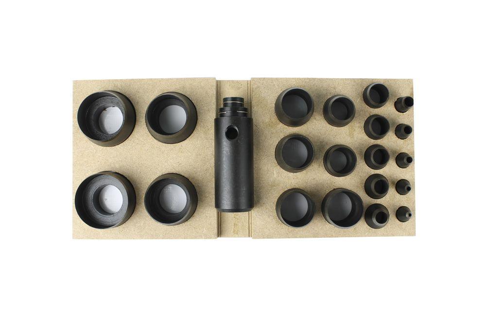 Jogo de Vazador de 1/8 a 2 Polegada Número 10 com 20 peças