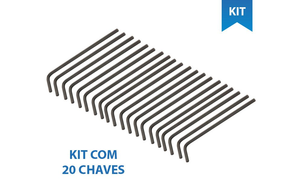 kit 20 Chaves Allen curta 5/32 - Vonder