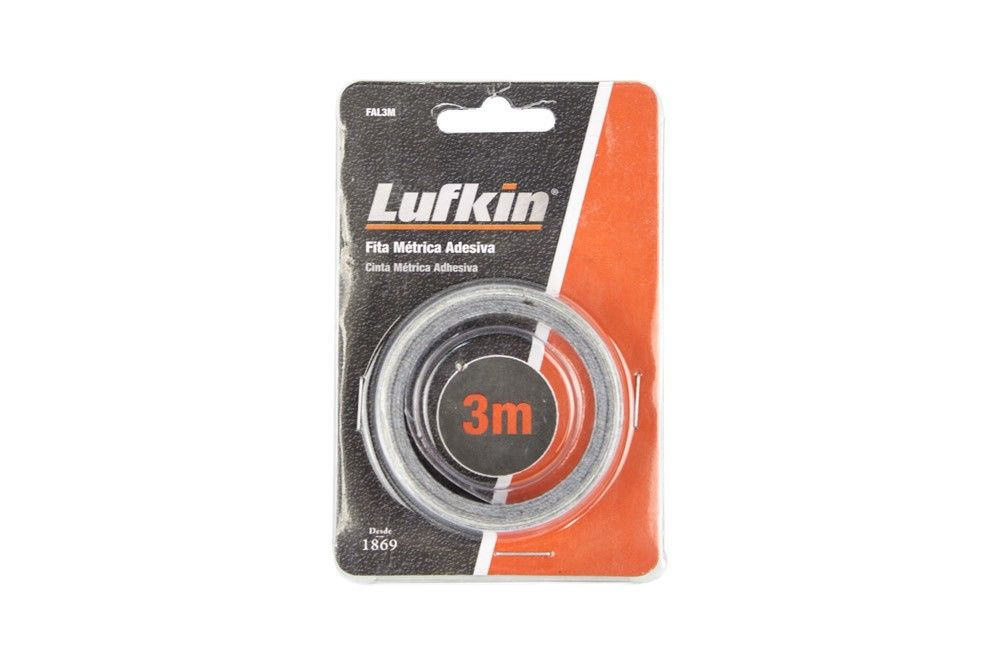 Kit 3 Peças Fita Métrica Auto Adesiva Com 3 Metros - Lufkin