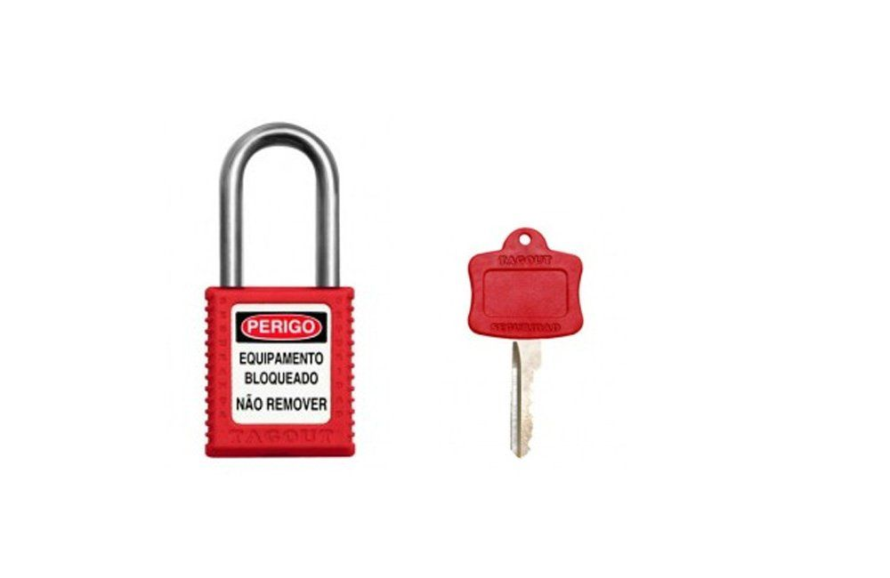 Kit Bloqueio com Cadeado, Dispositivo para Disjuntor e Etiqueta