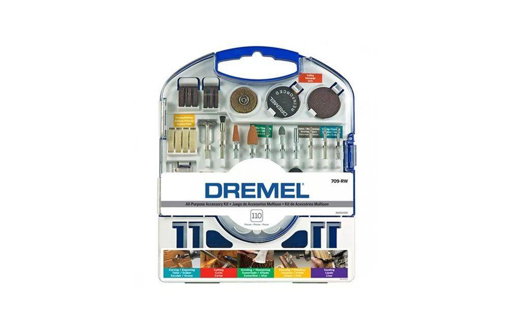 Kit de Acessórios Multiuso com 110 peças Dremel 709