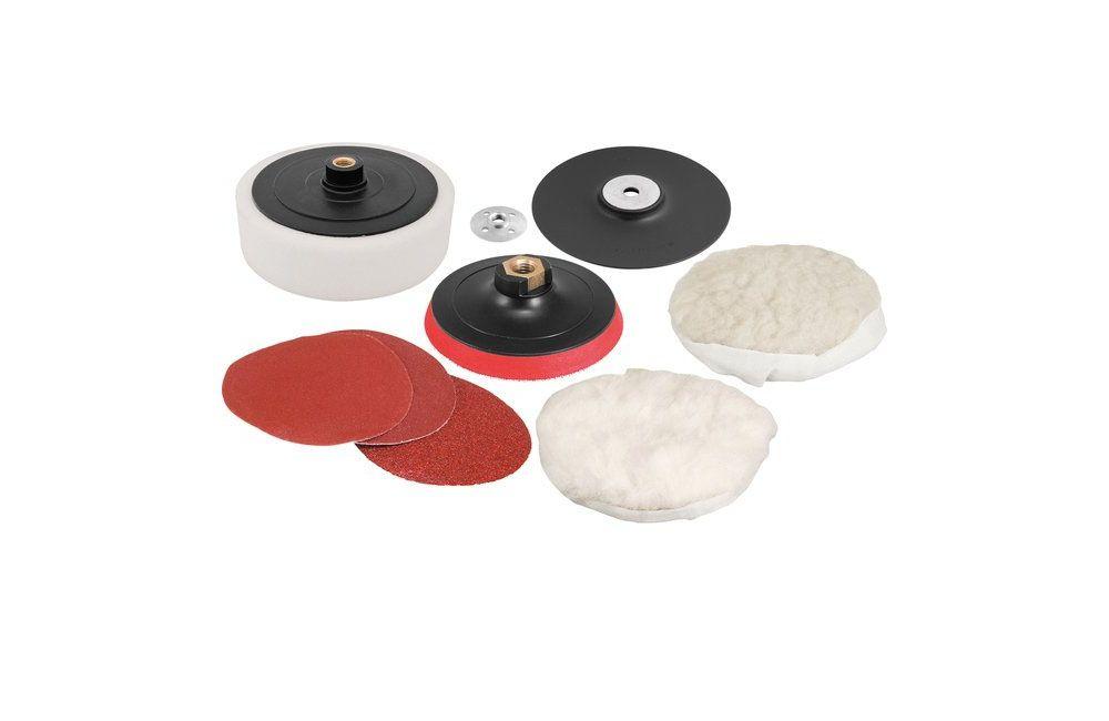 """Kit De Discos 7"""" Para Polimento Lixamento Fixa Fácil Rosca M14 8 Peças - VONDER"""