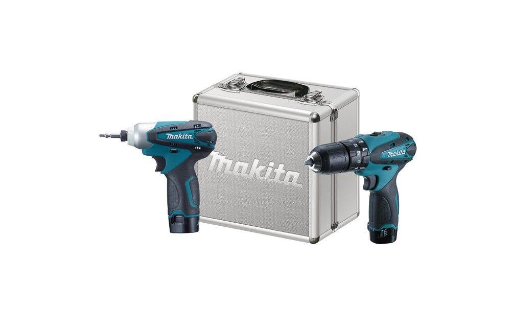 Kit Furadeira / Parafusadeira de Impacto e Parafusadeira à Bateria 12V DK1493 - Makita