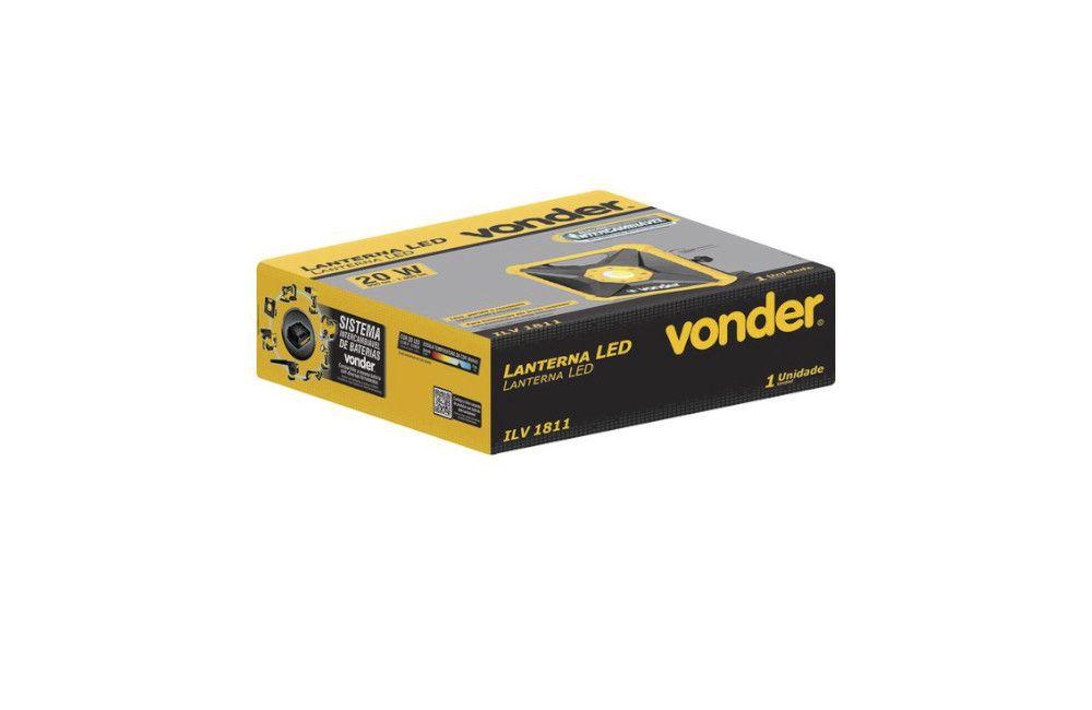 Kit Furadeira Parafusadeira IPFV-1819I e Lanterna ILV-1811 + 2 Baterias + Carregador - Vonder