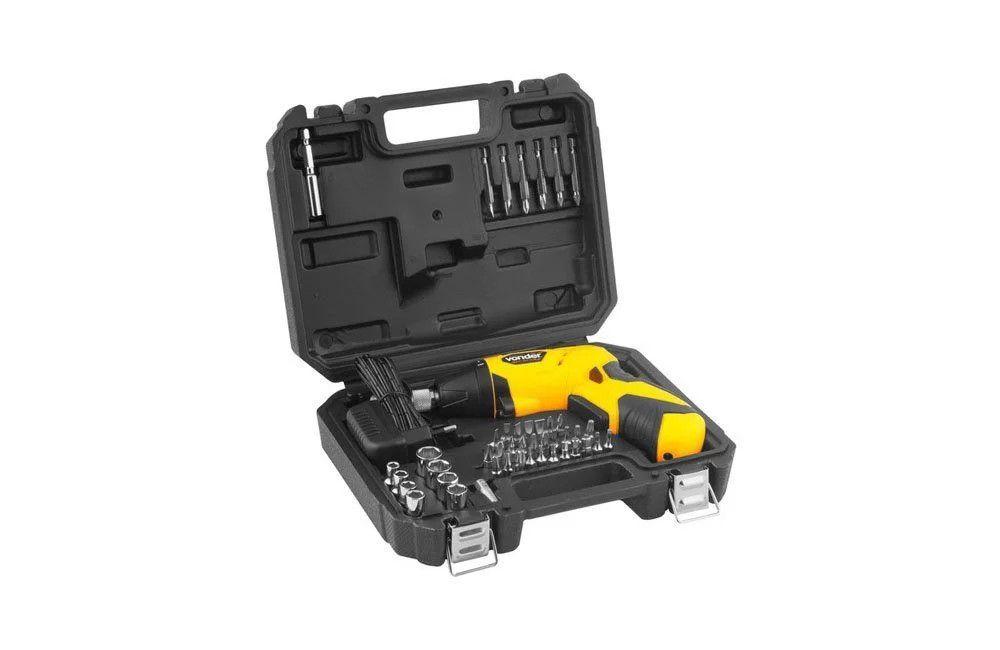 Kit Parafusadeira a Bateria 3,6V PBV360 com 45 Peças - Vonder