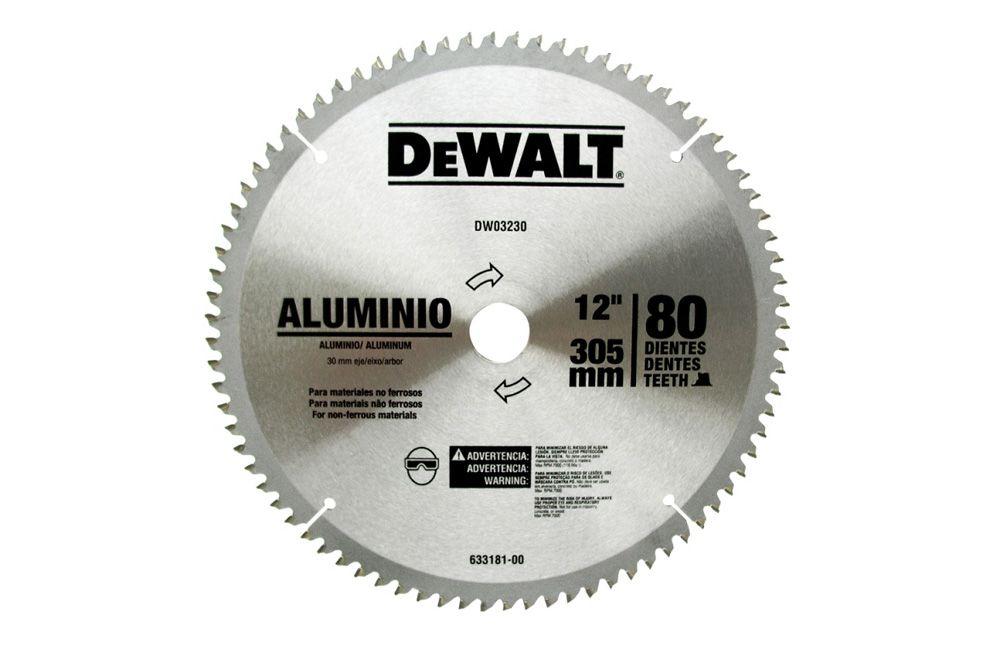 """Lamina de Serra Circular para Alumínio 12"""" DW03230"""