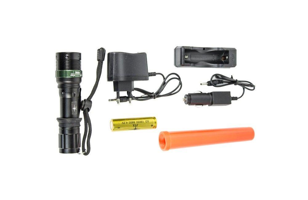 Lanterna Policial LED com Carregador Veicular/Elétrico JY985