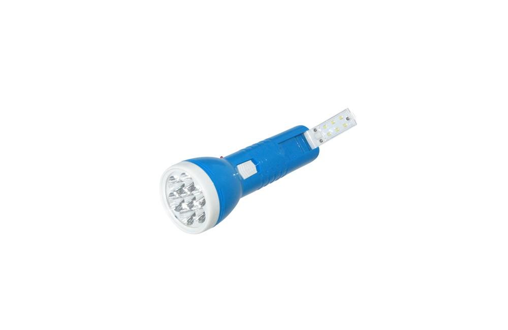 Lanterna Recarregável 3 Estágios Reta Bivolt LED-1921 - DP