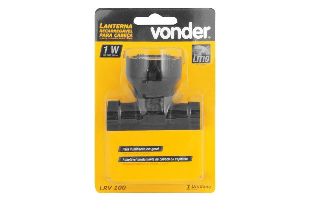 Lanterna Recarregável para Cabeça LED LRV100 - VONDER