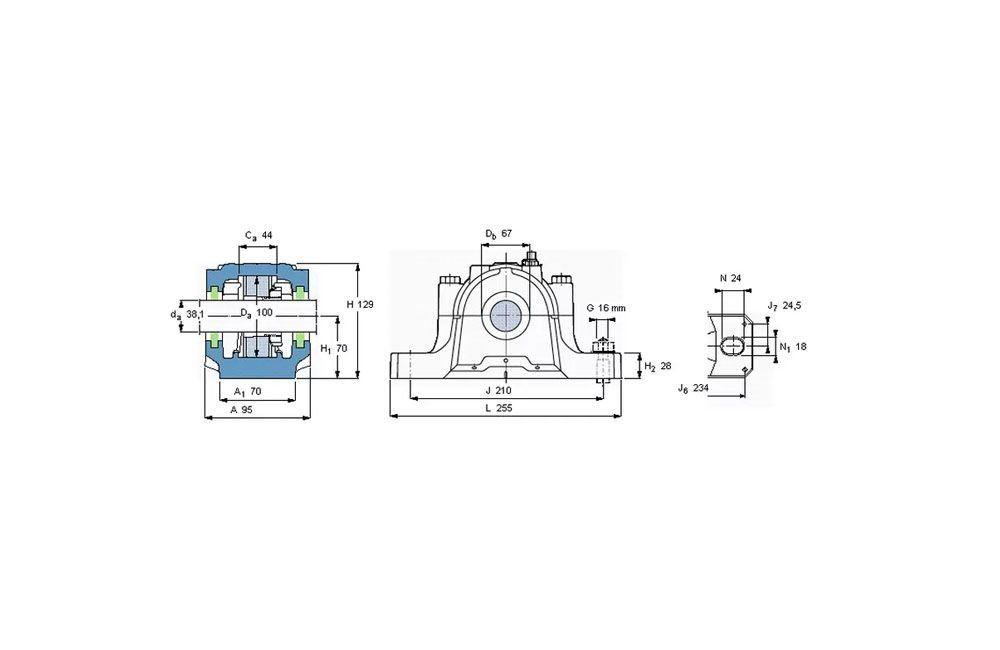 Mancal com Vedação SE-511-609 TL/VU-800 - SKF