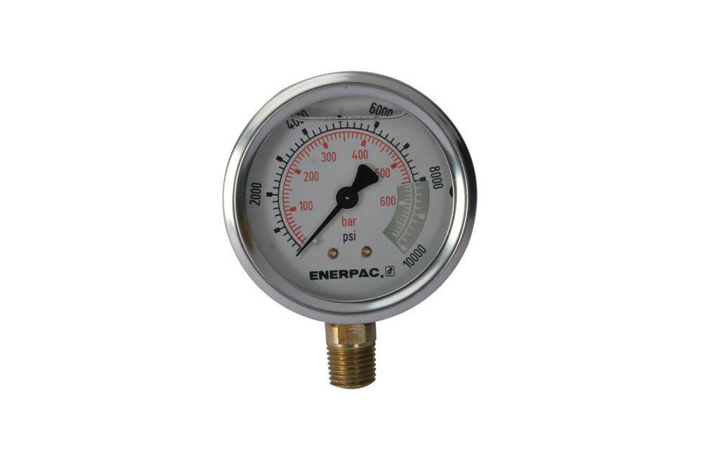"""Manômetro Reto de 1/4"""" com Glicerina para 700 Bar Enerpac G-2535L"""