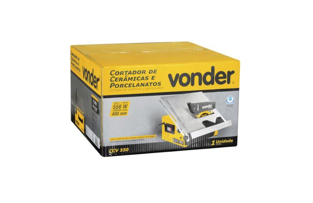 Máquina para Cortar Cerâmicas e Porcelanas de Bancada 110V CCV550 - Vonder