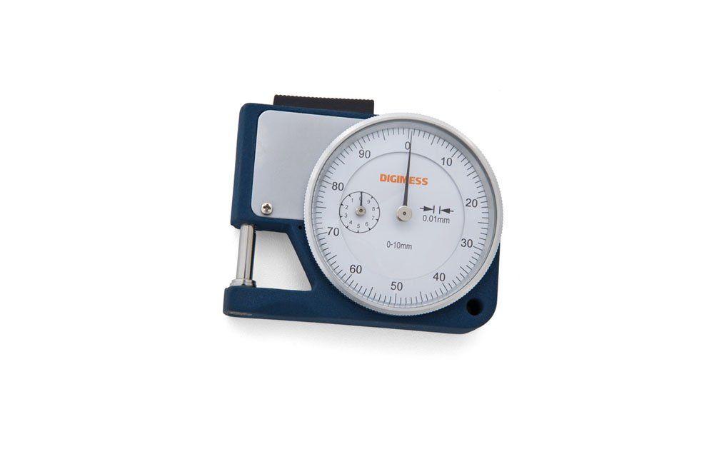 Medidor de Espessura de Bolso com Relógio 0 a 10mm 130.140 - Digimess