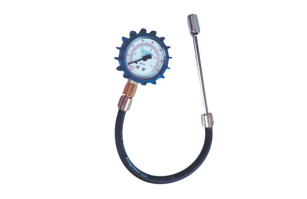 Medidor de Pressão com Bico Duplo para Pneus MS27-C - Steula
