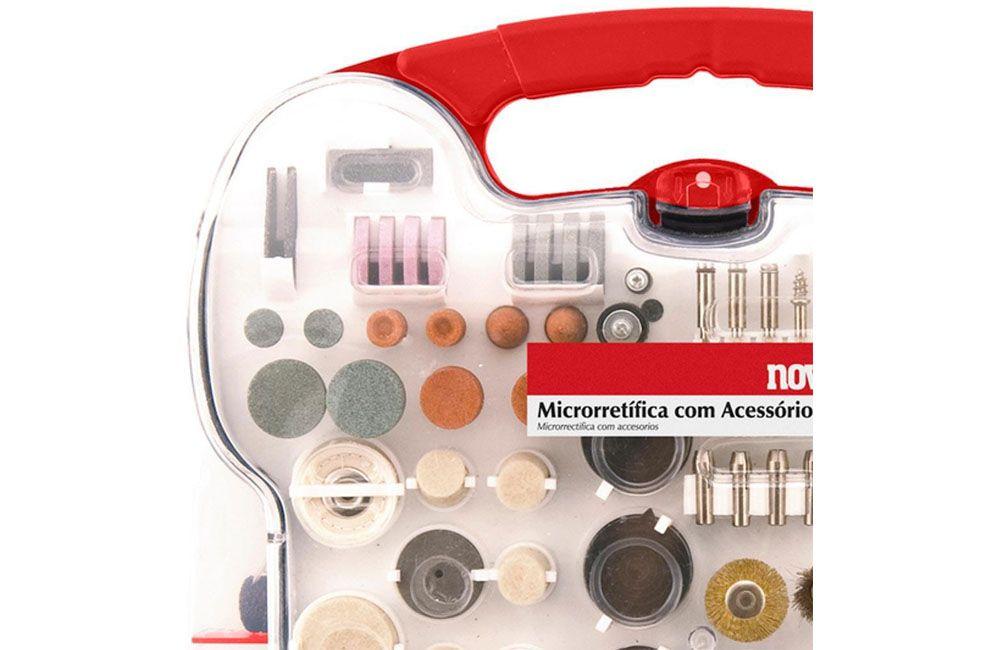 Micro Retífica 130W AMR172  110V com 172 Peças - NOVE 54