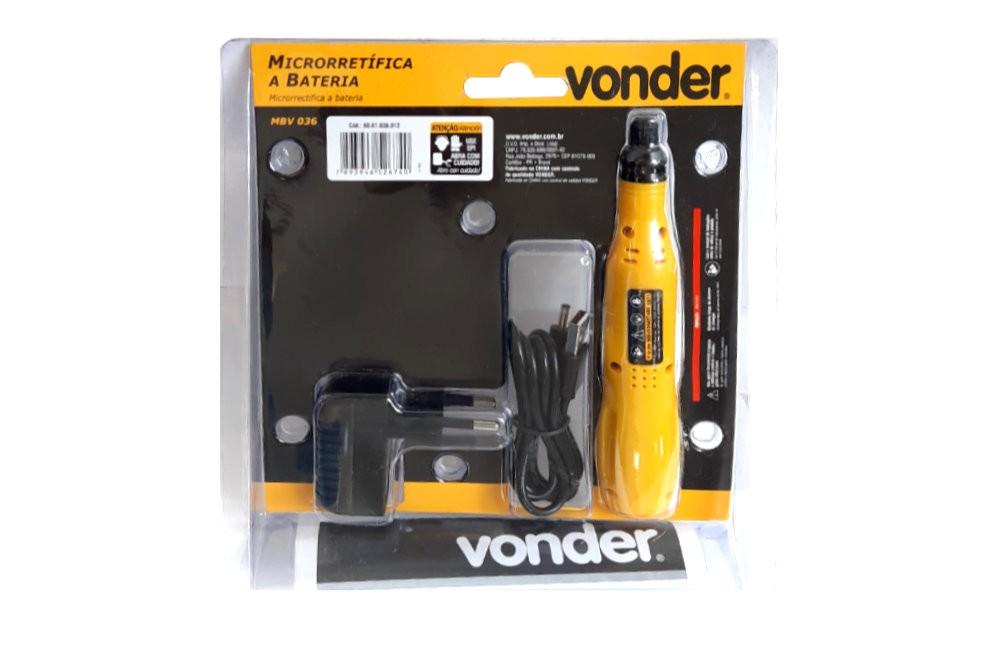 Micro Retífica a Bateria 3,6v Bivolt com 12 Peças MBV-036 - Vonder