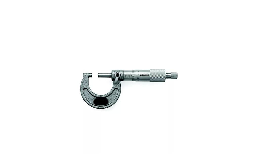 Micrômetro Externo de 0 a 25 mm de Ferro Fundido 110.100 - Digimess