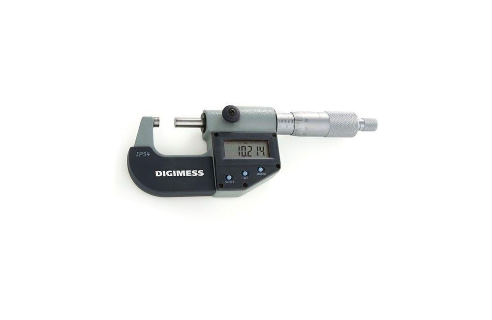 Micrômetro Externo Digital IP54 de 0 a 25 mm 110.272 - Digimess