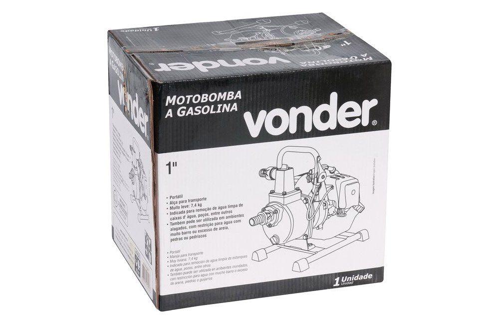 "Motobomba a Gasolina Motor 2 Tempos Saída de 1"" - Vonder"