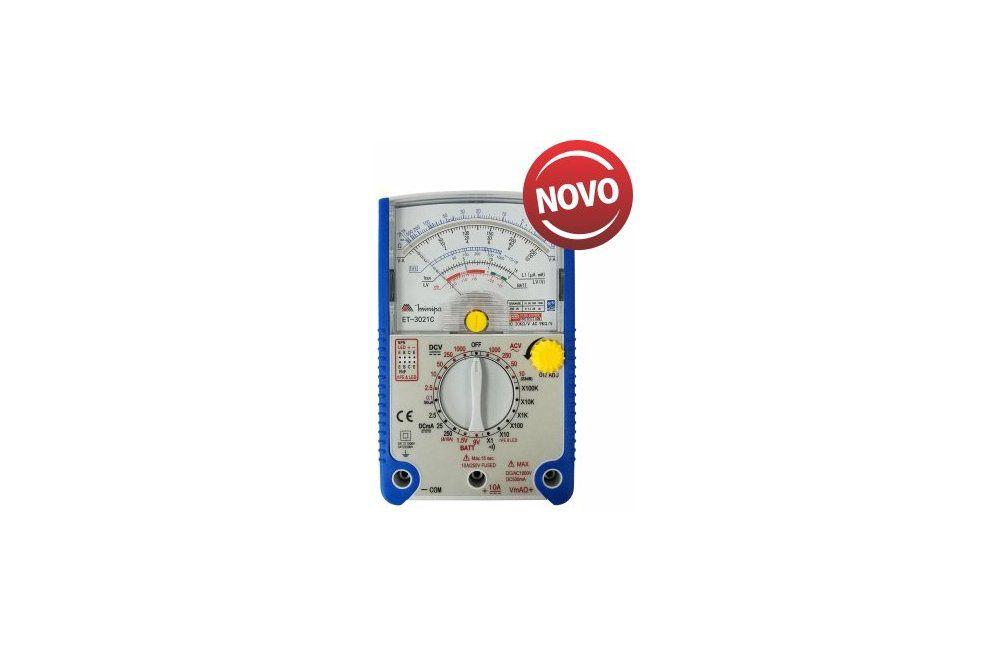 Multímetro Analógico 10A/1000V ET3021C - Minipa