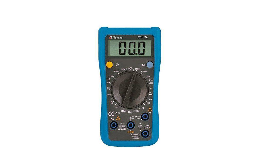 Multímetro Digital 10A/600V com Temperatura ET-1110A