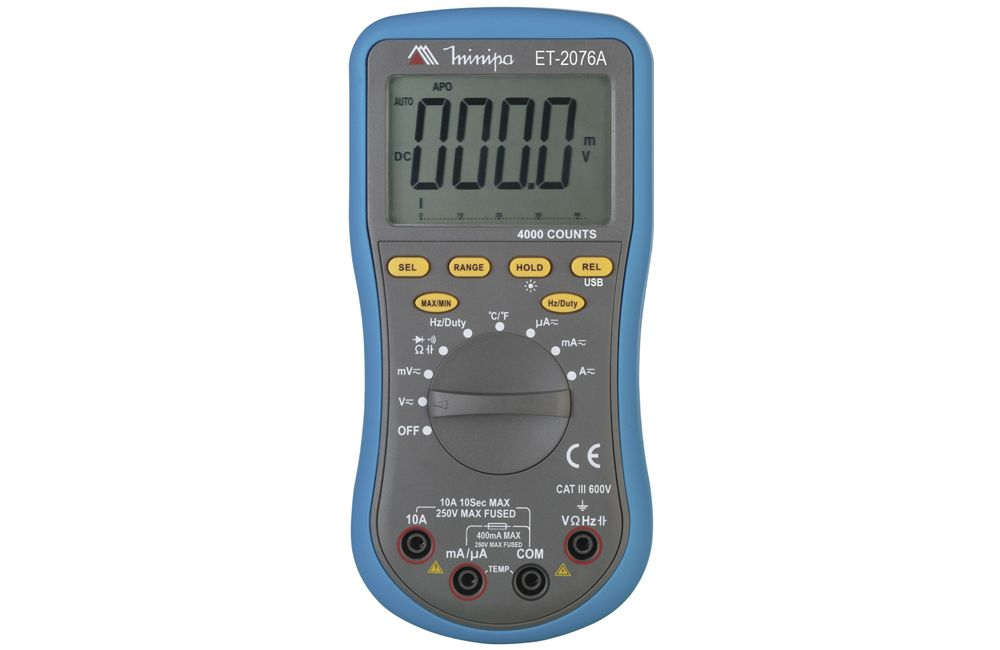 Multímetro Digital 10A AC/DC/RS232 ET-2076A