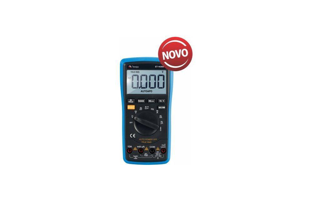Multímetro Digital 10A AC/DC/TRMS 3.5/6D ET1639A - Minipa