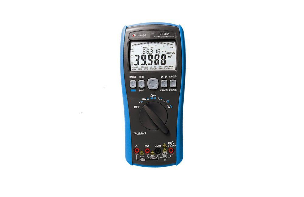 Multímetro Digital 10A AC/DC/TRMS/RS232 ET-2801 - Minipa