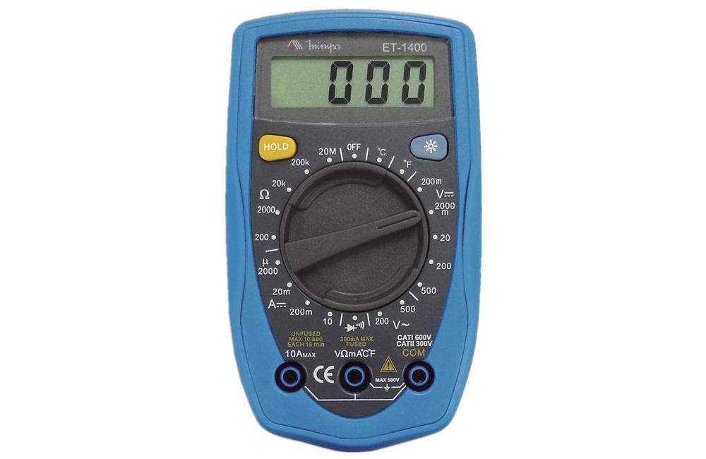 Multímetro Digital 10A com Temperatura ET-1400