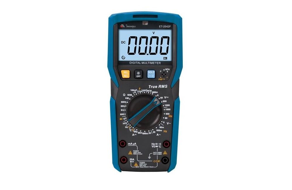 Multímetro Digital 20A AC/DC TRMS HFE TEMP ET-2042F - MINIPA