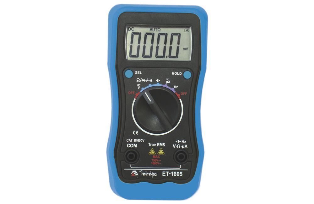Multímetro Digital 6000MA AC/DC TRMS ET-1605