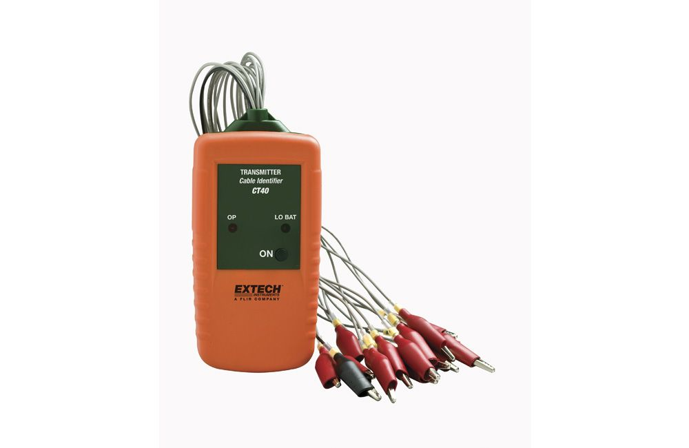 Multímetro Digital com Identificador para 16 Cabos CT-40 Extech