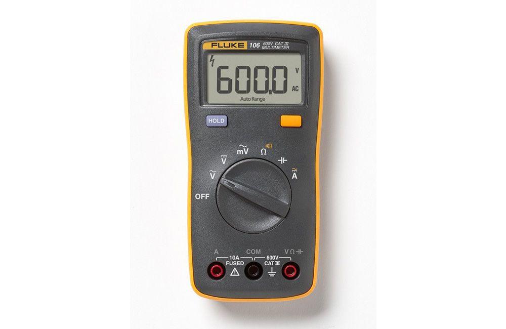 Multímetro Digital para Eletricista 600V AC/DC Fluke 106
