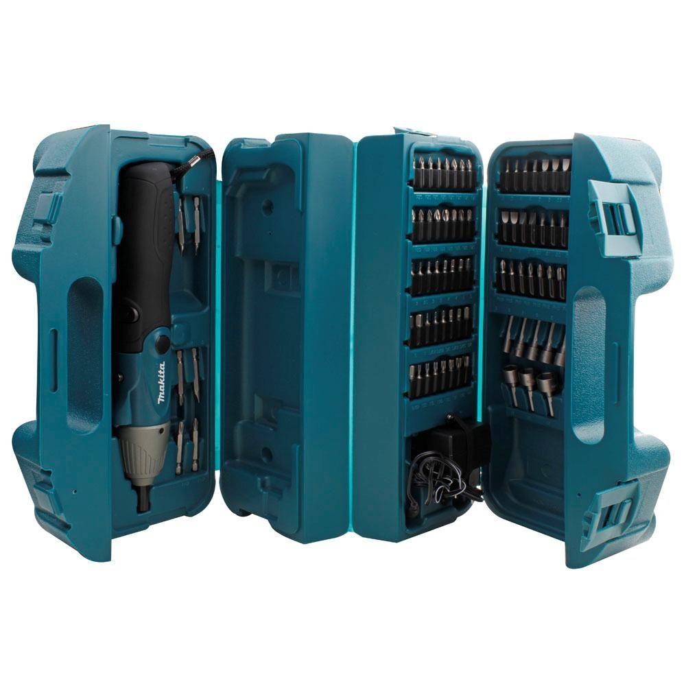Parafusadeira Articulada de Bateria com Kit de 80 peças 6723 4,8V 110V - Makita