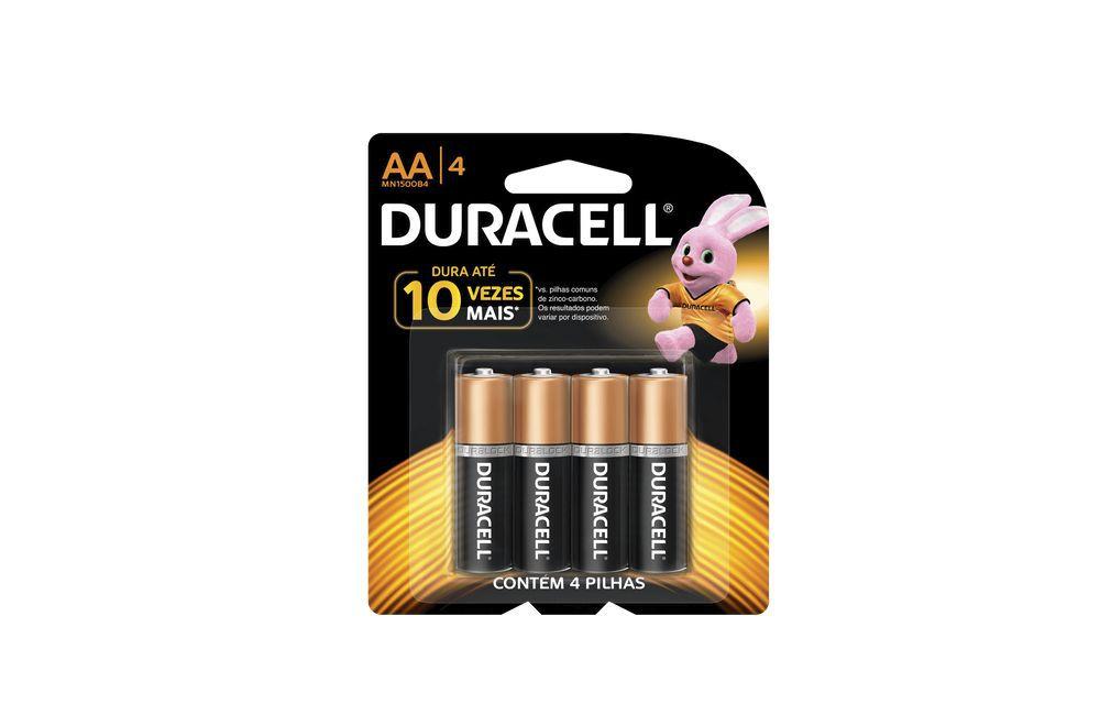 Pilha Alcalina Pequena Com 4 peças 1500B4 - Duracell