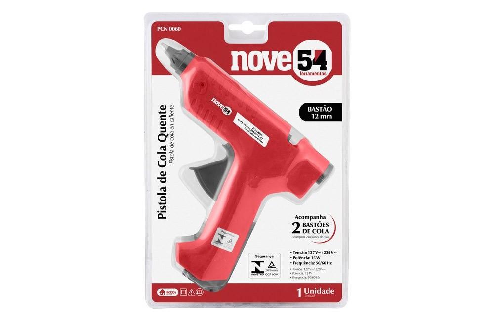 Pistola de Cola Quente 15W Bivolt 1/2 PCN0064 - Nove54