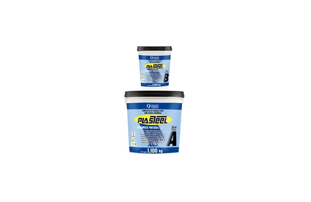 Plasteel Cerâmico Pintável Azul 3:1 de 1320 gramas - Tapmatic