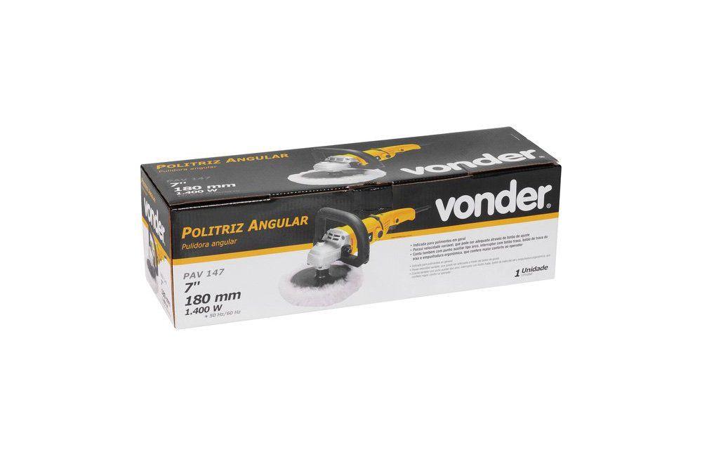 """Politriz Angular 7"""" 3300RPM 1400W 220V PAV147 - Vonder"""