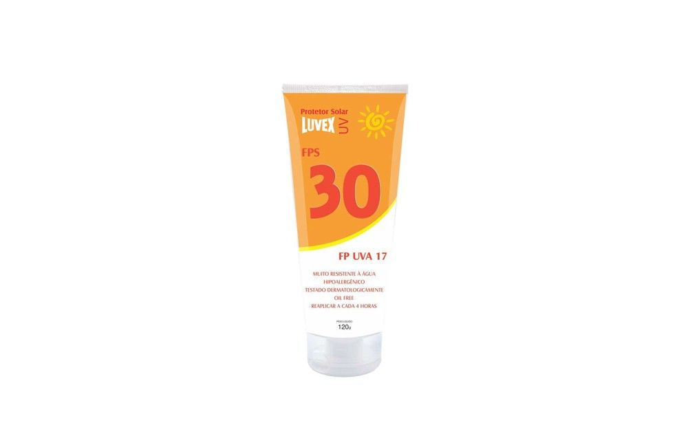 Protetor Solar FPS30 U.V.A 17 120GR - LUVEX